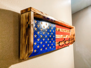 Old Glory Coat Rack