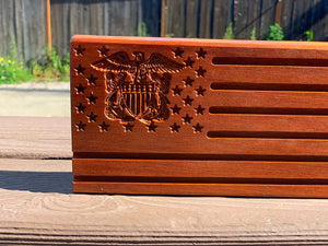 Custom American Flag Coin Rack