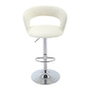 BR1881004-Adjustable Height PU-Leather Bar Stool with Footrest