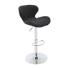 BR1881006-Adjustable Height Fabric Bar Stool with Footrest