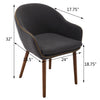Brage Living Dylan Upholstered Dining Chair