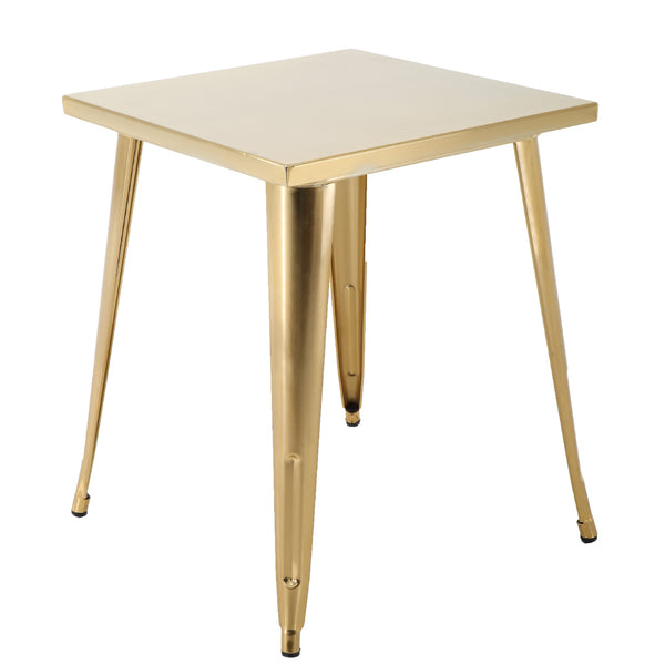 "BR1951004-29"" Gold Square Metal Table"