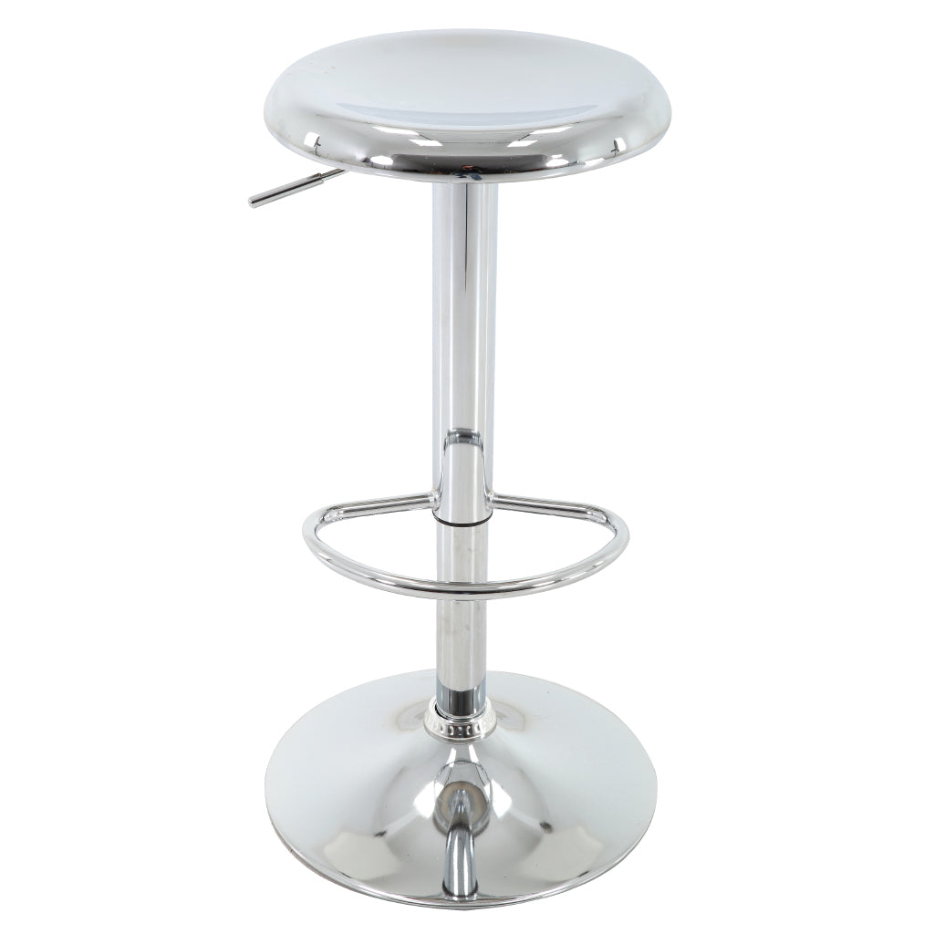 Brage Living Ascend Chrome Finished Adjustable Height Barstool