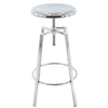 BR1981010-2-Backless Round Seat Adjustable Height Swivel Bar Stools (Set of 2)