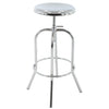 BR1981022-2-Bell-Shaped Adjustable Metal Barstool Chrome (Set of 2)