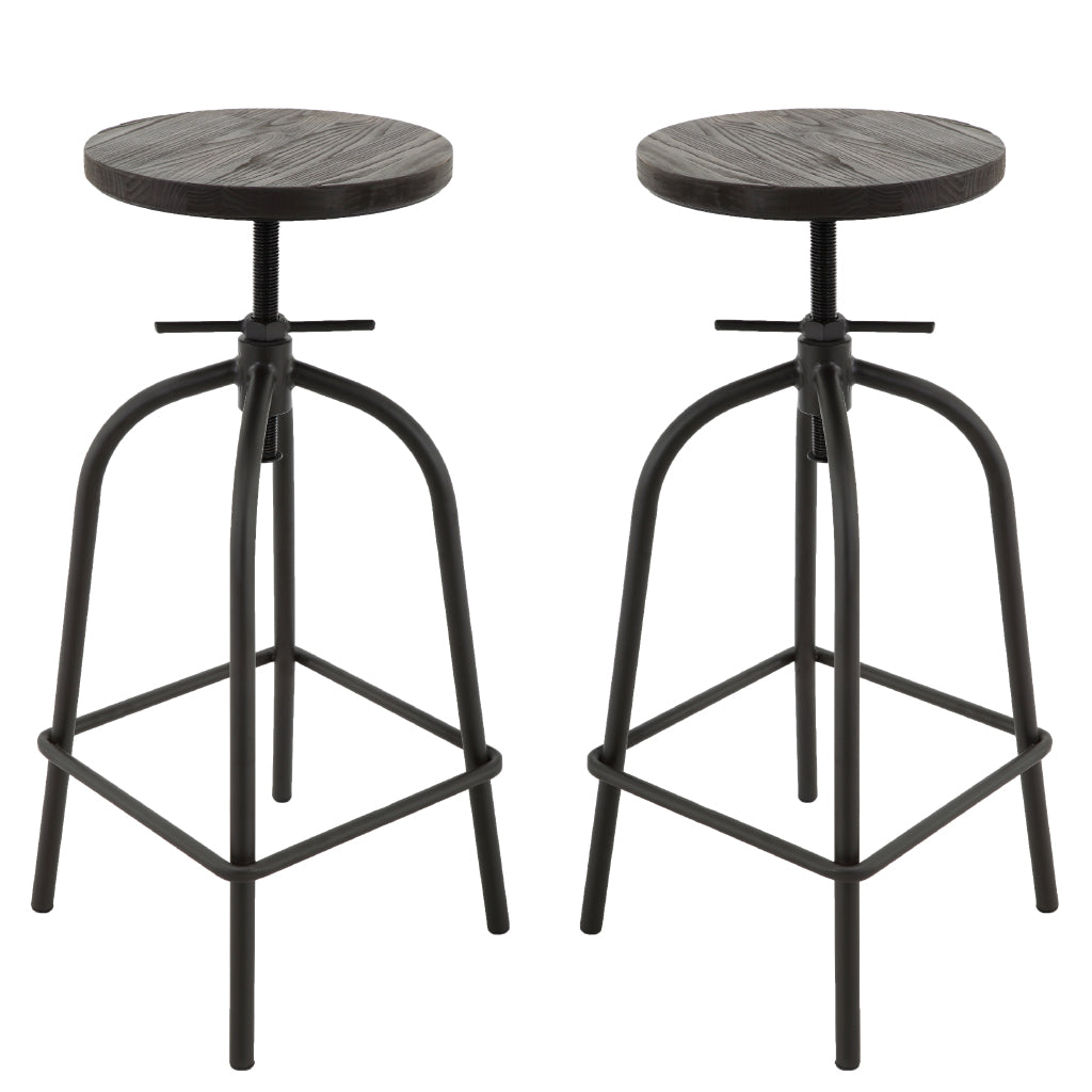 Brage Living Juno Aged Wood Counter and Bar Stool Set (Set of 2)