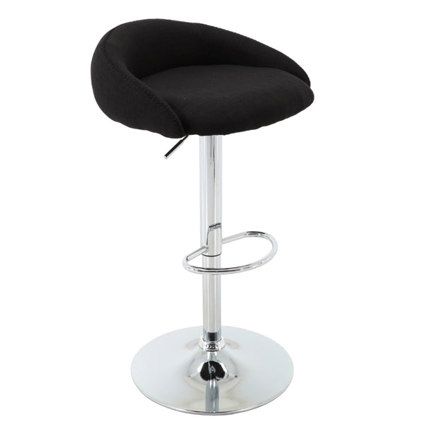 BR1981027-Round Height Adjustable Low Back Upholstered Barstool