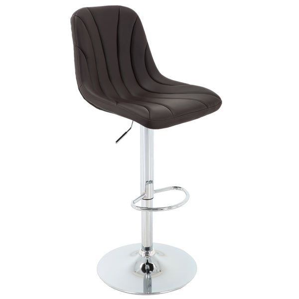 BR1981028-PU Leather with Line Stitching Height Adjustable Bar Stool