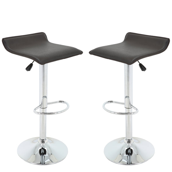 Brage Living Milo Height Adjustable Swivel Barstools with Footrest (Set of 2)