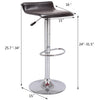 VF1581044-2-Adjustable Height PU-Leather Swivel Bar Stools (Set of 2)