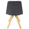 BR1991014-2-Upholstered Chair With Wooden Legs - Dark Grey (Set of 2)