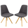 Brage Living Darrow Upholstered Dining Chair Set (Set of 2) - Dark Grey