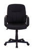 VF1551006-Swivel Black PU-Leather Mid-Back Office Desk Chair