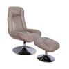 VF1541005-Grey High Back Manual Swivel Recliner with Ottoman