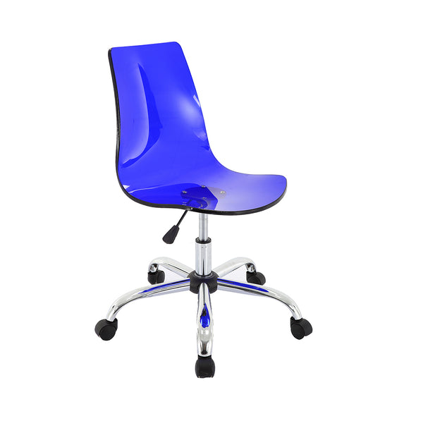 VF1551009-Adjustable Acrylic Swivel Chair (Blue)