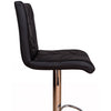 VF1581003-Leaf Stitching Swivel Bar Stools (Black)