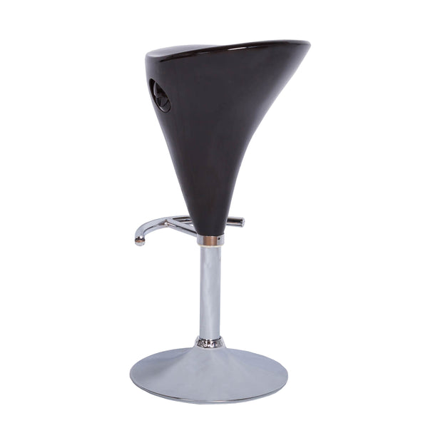 VF1581008-Adjustable Height Contemporary Acrylic Bar Stool (Black)