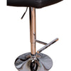 VF1581012-Adjustable Height Swivel Barstools with Footrest (Black)