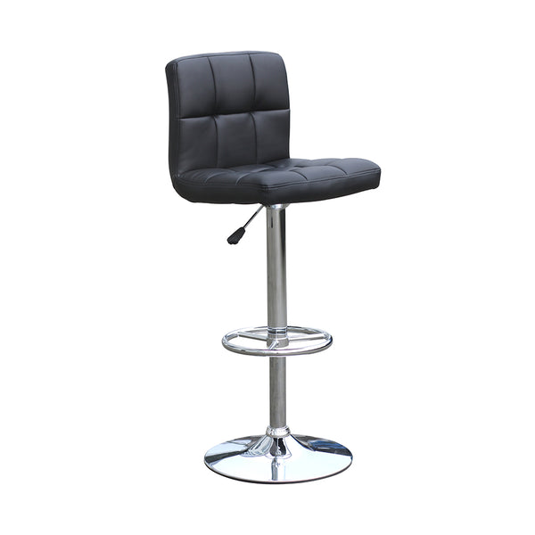 VF1581013-Adjustable Height Swivel Barstools with Ring Footrest (Black)