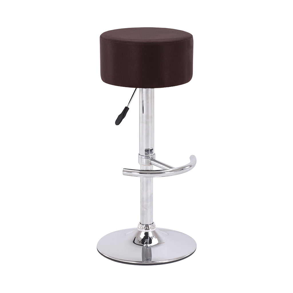 VF1581015-Adjustable Height Backless PU-Leather Bar Stool with Footrest (Chocolate)