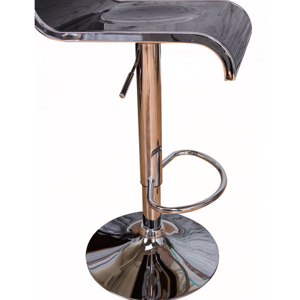 VF1581019-Acrylic with Chrome Outline Height Adjustable Bar Stools
