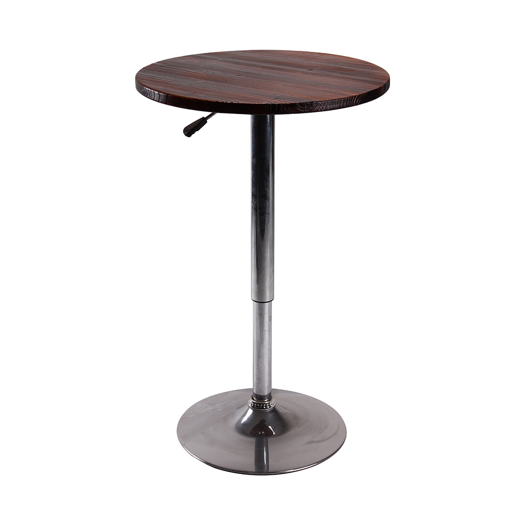 VF1581023-Contemporary Height Adjustable Round Swivel Bar Table