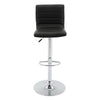 VF1581025-Adjustable Height PU-Leather Bar Stool with Footrest (Set of 2)