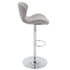 VF1581026-Light Grey Upholstered Adjustable Height Barstool (Set of 2)