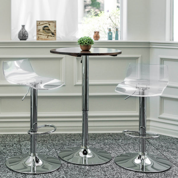 Brage Living Chalice Height Adjustable Counter & Barstool Set (Set of 2)