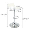 VF1581033-Adjustable Height Acrylic Bar Stools with Footrest (Set of 2)