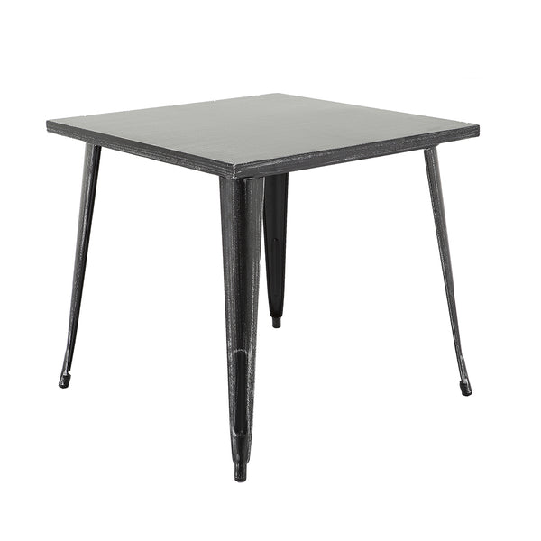 "VF1581037-29.5"" Square Metal Bar Table (Antique Black/Silver)"