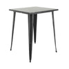 "VF1581038-40.9"" Square Metal Bar Table (Antique Black/Gold)"