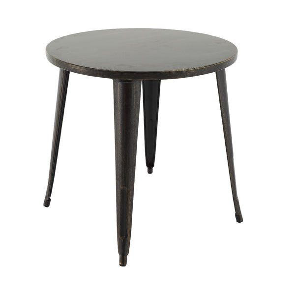 "VF1581040-29.7"" Round Metal Bar Table (Antique Black/Gold)"
