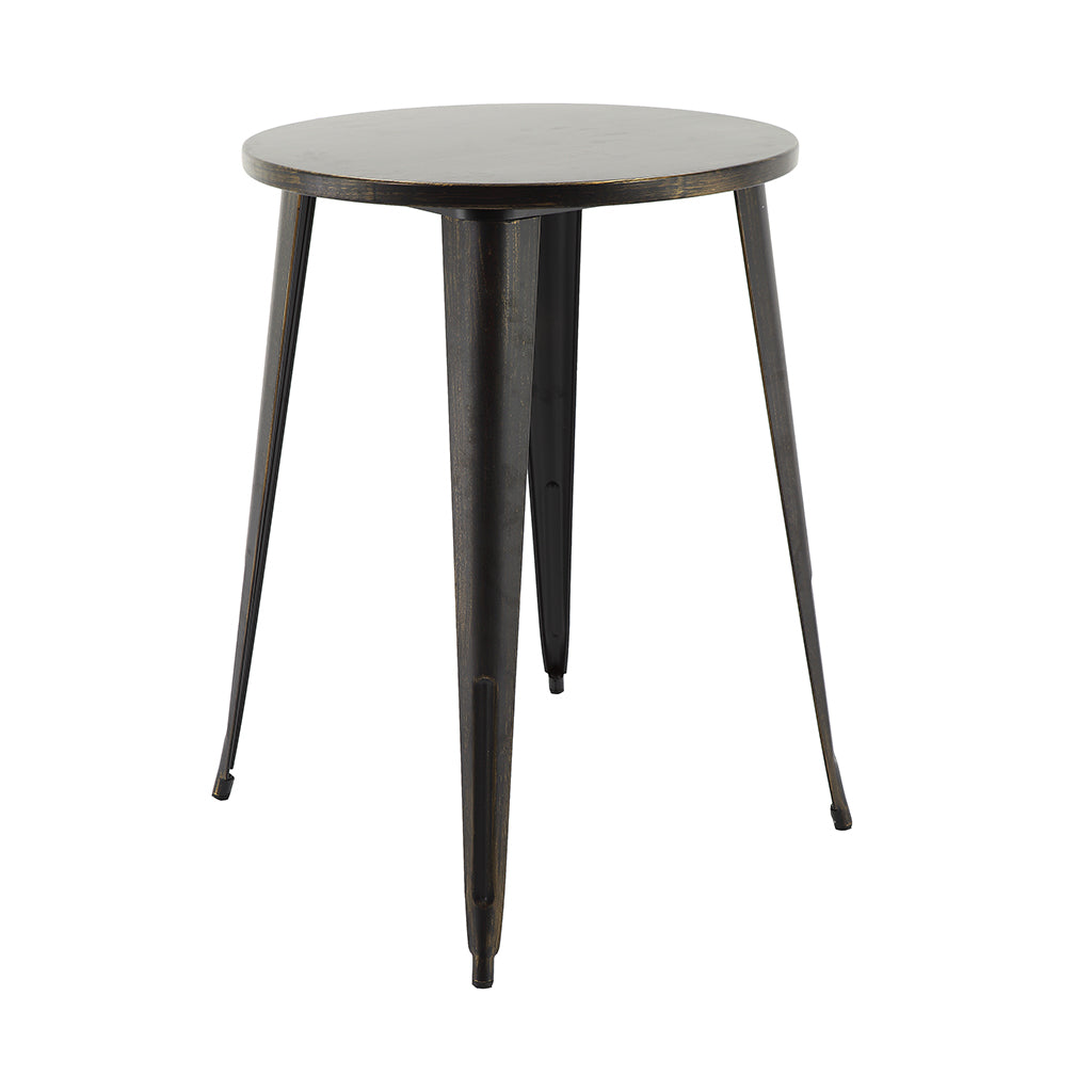 "VF1581042-40.7"" Round Metal Bar Table (Antique Black/Gold)"