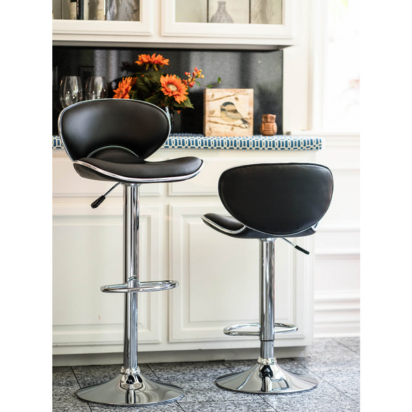 Brage Living Charlie Height Adjustable Barstool Set (Set of 2)
