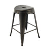 "VF1671020-24"" Backless Metal Bar Stools in (Antique Black/Gold) (Fully Assembled) (Set of 4)"