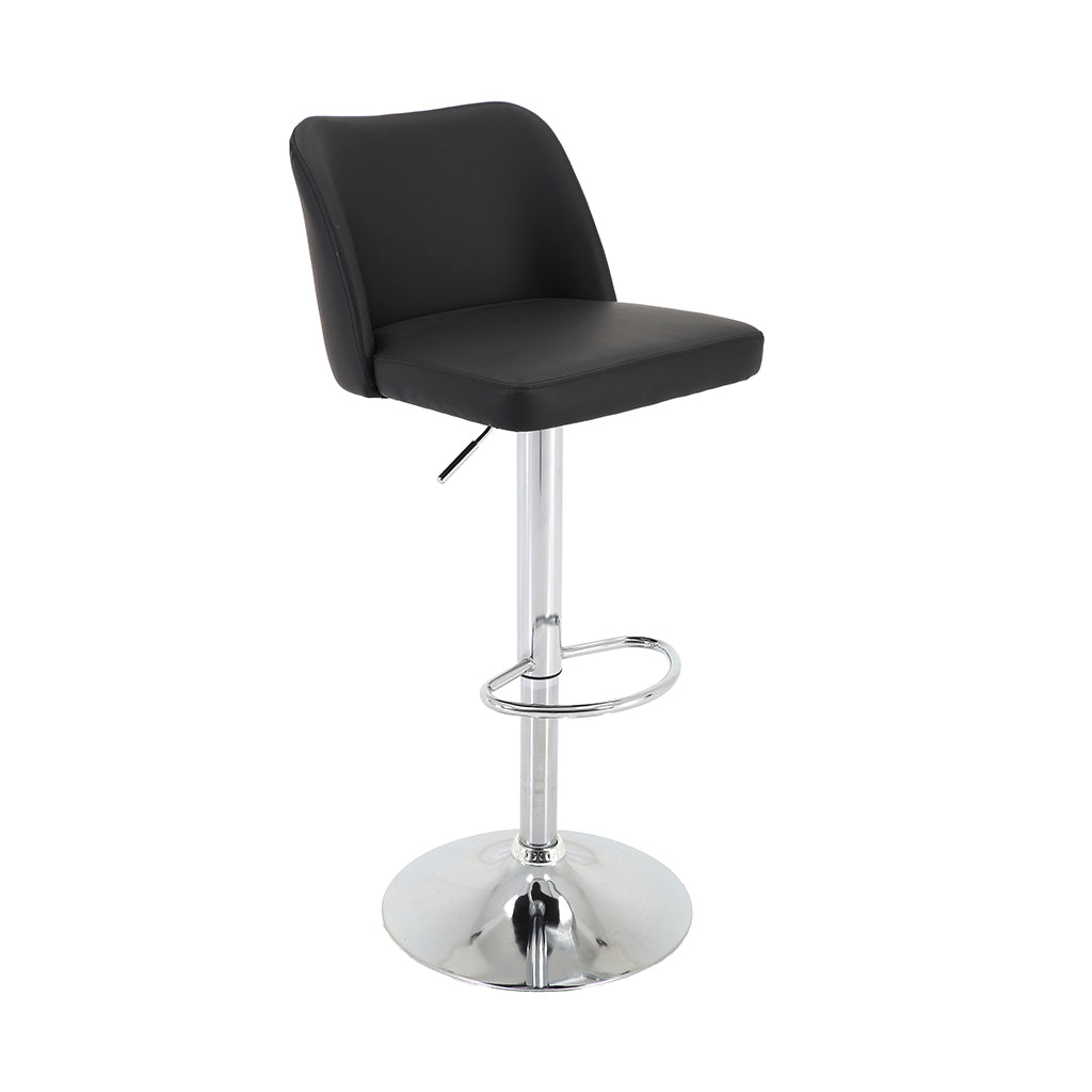 VF1681002-Swivel Adjustable Height Faux-Leather Upholstery Pedestal Bar Stools