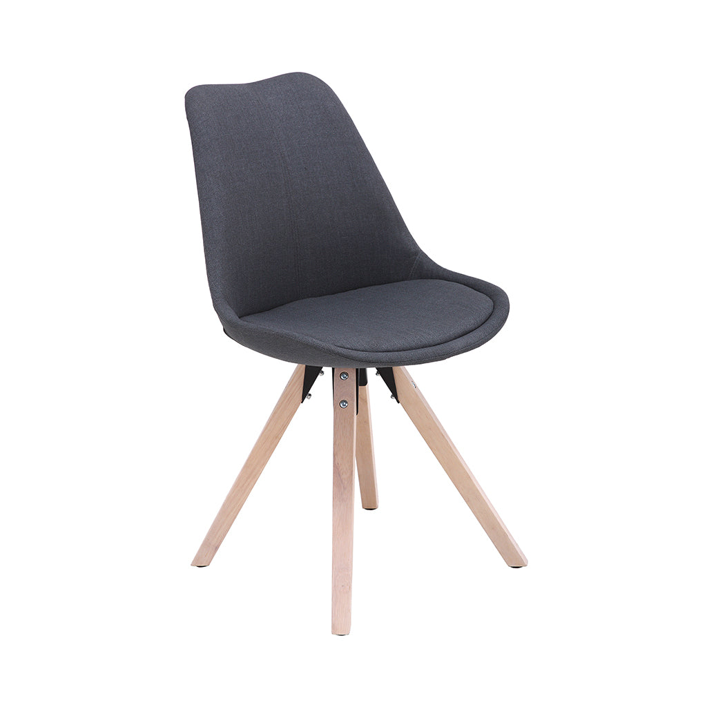 VF1681007-Contemporary Fabric Chair With Wooden Legs