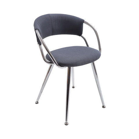 VF1681008-Contemporary Fabric Upholstery Chair with Chromed Legs