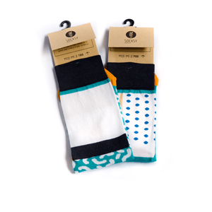 Dots And Worms - Socksy unisex sock for men and women