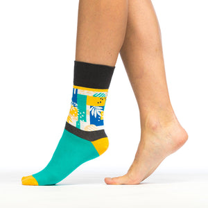 Triangles in Jungle - Socksy unisex sock for men and women