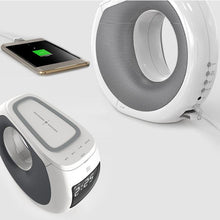 Load image into Gallery viewer, Ocean Wave Bluetooth Speaker , Clock and Wireless Phone Charger