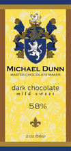 58% Dark Chocolate Mild Sweet