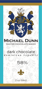 58% Dark Chocolate Dominican Republic (6 Bars)