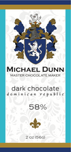 58% Dark Chocolate Dominican Republic