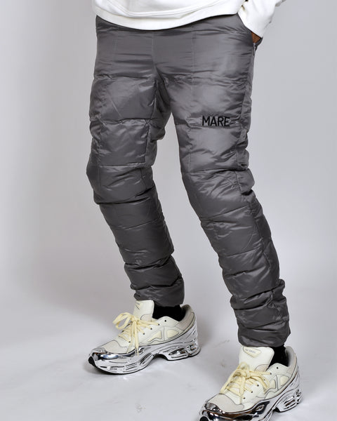 PUFFER PANTS - SILVER