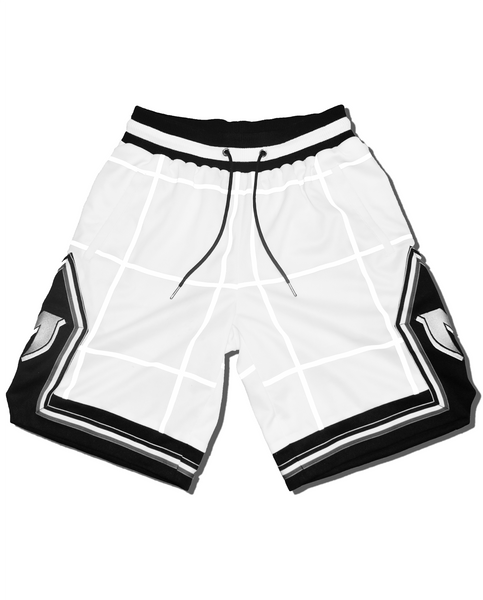 MARE REFLECTIVE GRID SHORTS - WHITE streetwear
