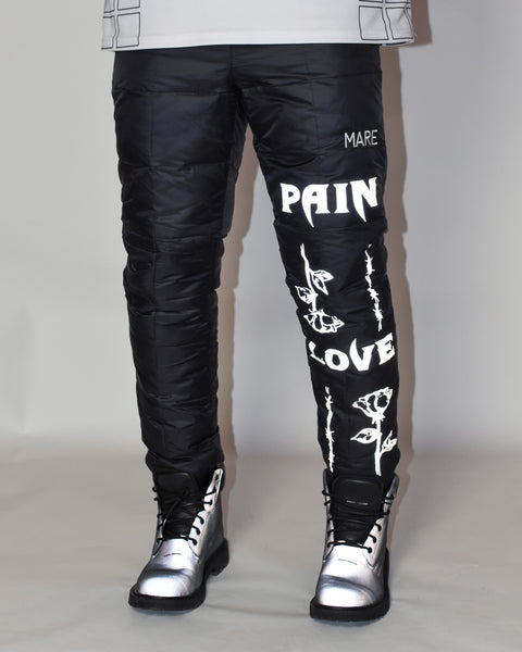 L&P PUFFER PANTS - MATTE BLACK