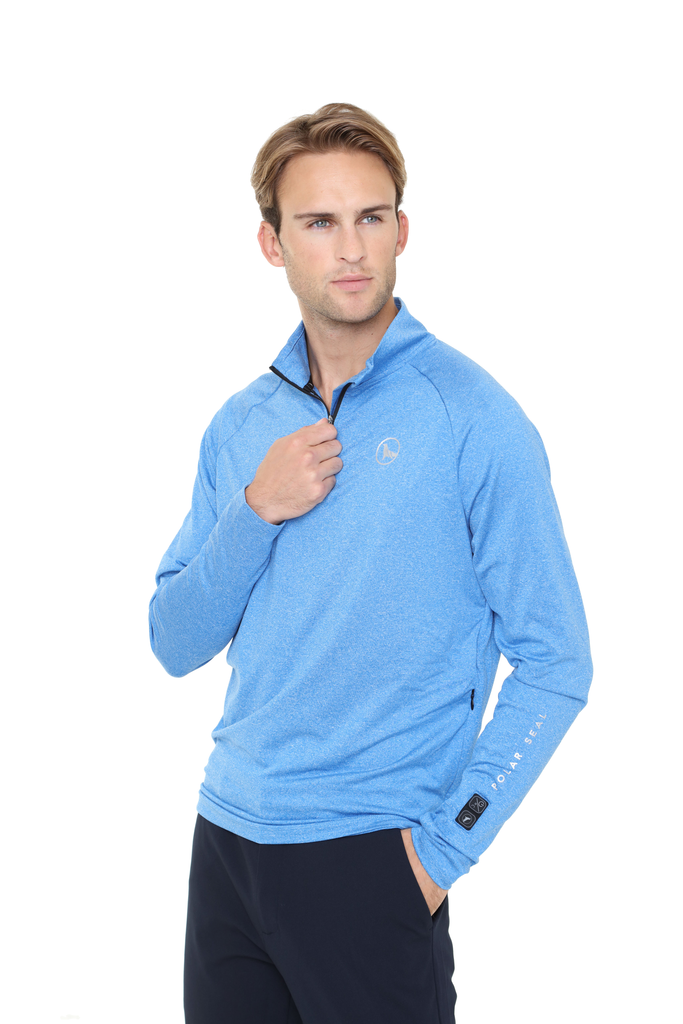 Heated Zip Top | Men | Alpine Blue