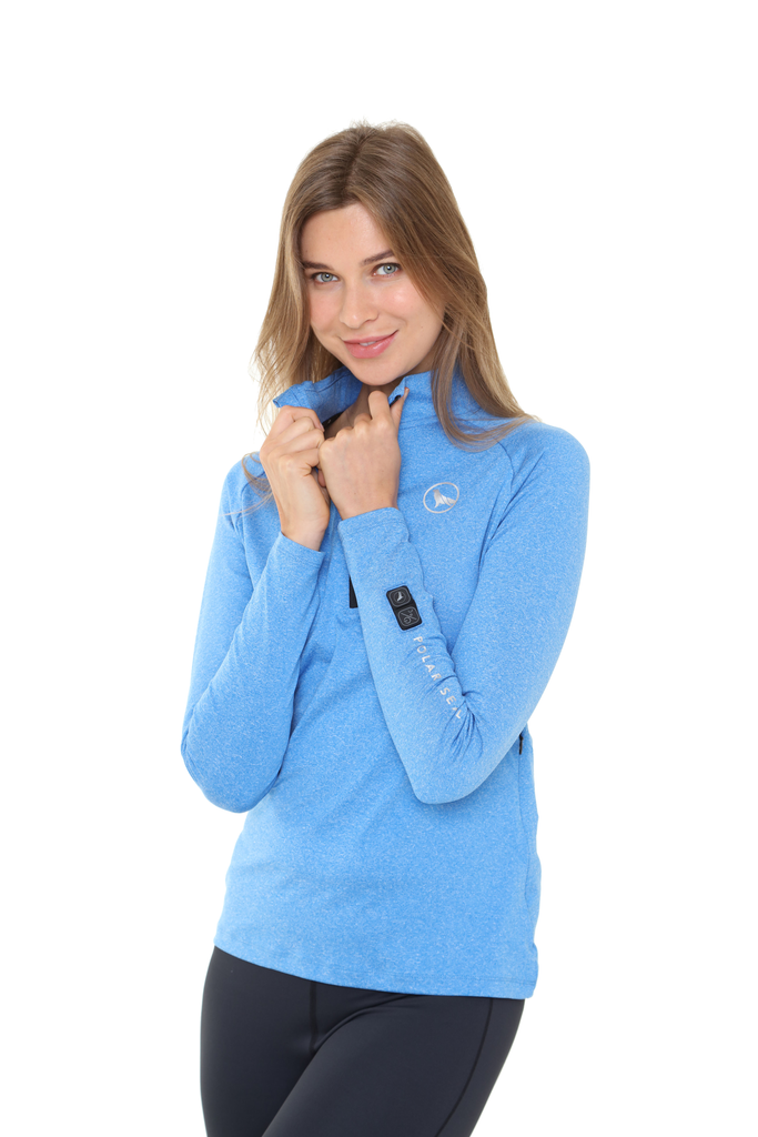 Heated Zip Top | Women | Alpine Blue